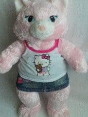 Adorable My 1st Big 'Hello Kitty' Glamorous Pink Build-a-Bear Cat