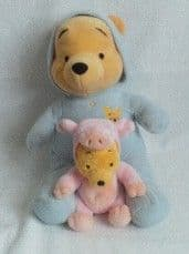 Adorable My 1st Big & Little 'Winnie the Pooh Bears' Baby Plush Toys