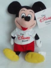 Adorable Retired 'Mickey Mouse' Disney Store Plush Toy BNWT