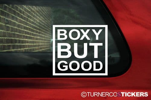 'BOXY BUT GOOD' Stickers For Volvo 740 / 760 GLE, 850 T5 Turbo, 240, 244, 940