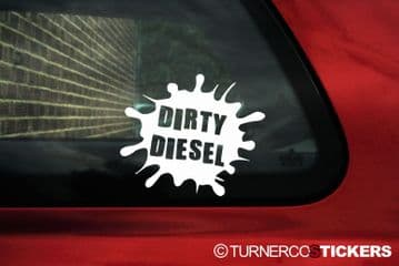 'Dirty Diesel' funny sticker / decal Ideal for VW Bora, Lupo,golf Mk4,Passat, TDI / GTD,Turbo Diesel