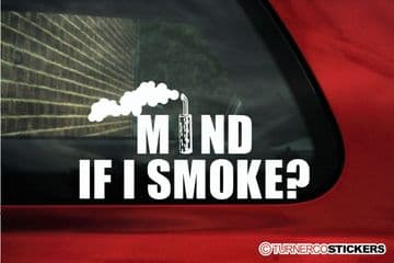 """"""" Mind if i smoke? """" Funny Diesel powered offroad truck sticker"""
