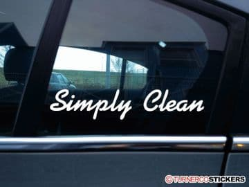 """"""" Simply Clean """" stanced show car VAG , JDM stickers"""