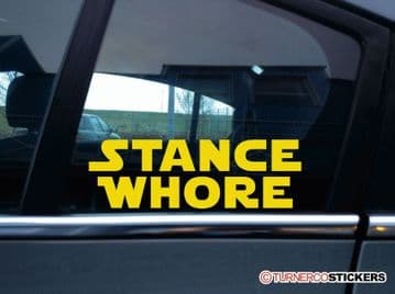 """"""" Stance Whore """"  funny galactic theme stanced, lowered car sticker"""