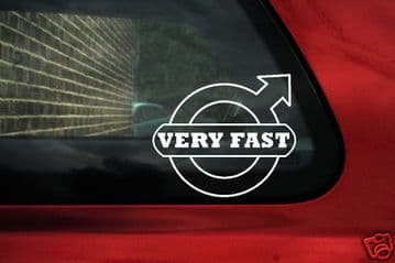 'Very fast' volvo logo sticker,for Volvo,v40,v70 Turbo