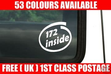 172 inside sticker x2 For Renault clio sport RS (F4R730