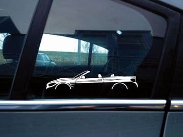 2 car silhouette stickers for BMW M4 Convertible F83 motorsport S215