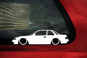 2 Lowered car outline JDM stickers for Honda Prelude Si BA1 2nd Gen Classic L912