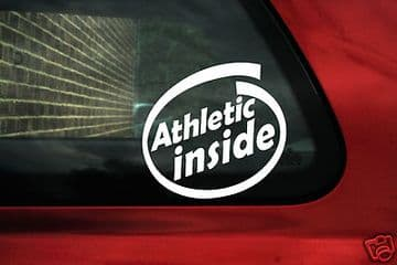 "2 x Aufkleber Sticker ""Athletic Inside"" Ideal Für Auto, Lastwagen, Van"