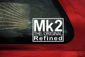 "2 x Aufkleber Sticker ""MK2 The Original Refined"" Für VW MK2 Jetta"