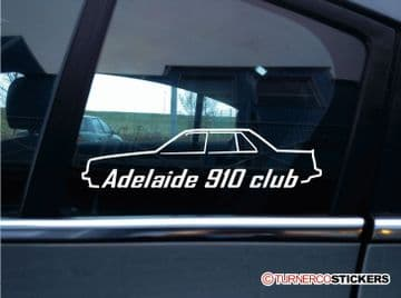 2x Adelaide 910 Club stickers