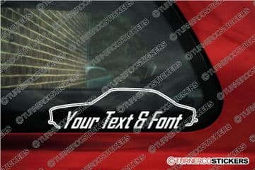 2x Alfa Romeo 105 / 115 GTV Coupe CUSTOM TEXT stickers