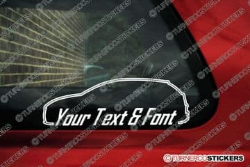 2x Alfa Romeo MiTo CUSTOM TEXT stickers