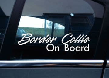 2x Border Collie On Board dog in car fancy warning STICKERS | Aufkleber | Pegatina | autocollant