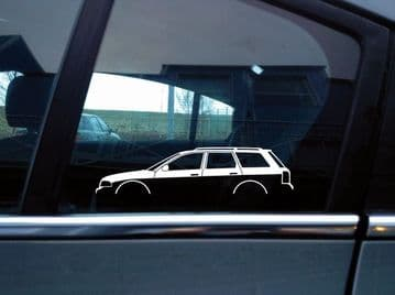 2X Car silhouette stickers - for Audi A4 S4, B5 (1995–2001) Avant wagon S130