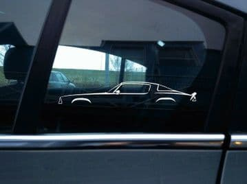 2X Car silhouette stickers - for Chevrolet Camaro 1975-1981 2nd gen | classic