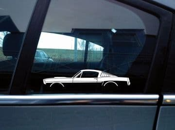 2X Car silhouette stickers - for Ford Mustang 1965 Fastback Shelby GT350 S193