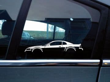 2X Car silhouette stickers - for Ford Mustang GT 1999-2004 new edge SN95 | S180