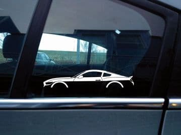2X Car silhouette stickers - for Ford Mustang GT 2015-2017 6th gen S550 S194
