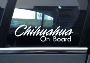 2x Chihuahua On Board dog in car fancy warning STICKERS | Aufkleber | Pegatina | autocollant