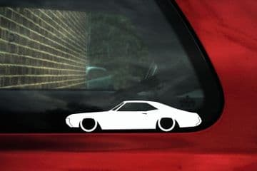 2X Classic car outline stickers - for 1968 Buick Riviera | lowered L1516