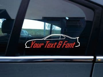 2x Custom YOUR TEXT car stickers - for Ford Mustang GT SN95 4th gen (with spoiler) 1994-1998
