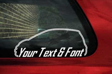 2x Custom YOUR TEXT car stickers - peugeot 107