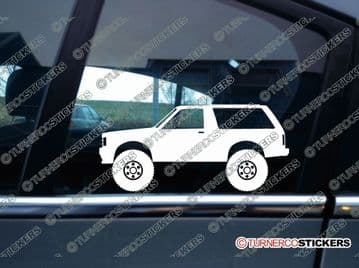2x Lifted Chevrolet S10 Blazer (1982+) S-10 silhouette stickers