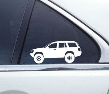 2X Lifted offroad truck stickers - for Jeep Grand Cherokee WJ 4x4 | T39