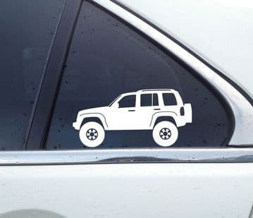 2X Lifted offroad truck stickers for Jeep Liberty KJ (2002-2007) T51