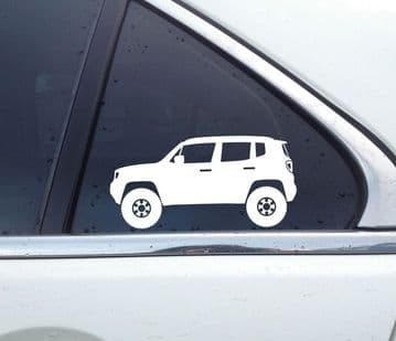 2X Lifted offroad truck stickers - for Jeep Renegade (BU) 2015+ T21