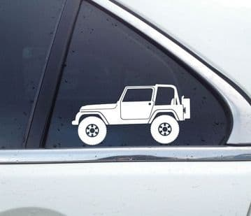2X Lifted offroad truck stickers - for Jeep Wrangler (YJ) 4x4 | classic T38
