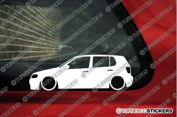 2x Low car outline stickers - for Volkswagen Polo 6n2 facelift 5-DOOR