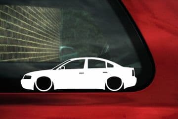 2x Low car outline stickers - for Volkswagen VW Passat (B5) 1.8T / v6 / TDi sedan