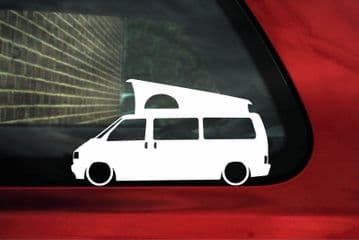 2x Low car outline stickers - for Volkswagen VW T4 Westfalia California Camper, bus