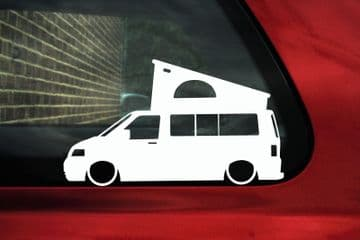2x Low car outline stickers - for Volkswagen VW T5 California Camper