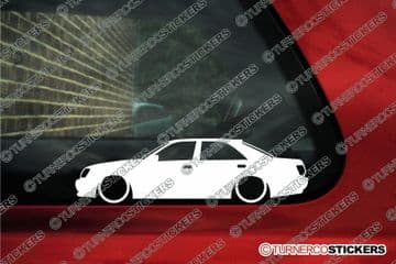 2x Low car outline stickers - Toyota Crown S170 (1999 -2003) JZS171