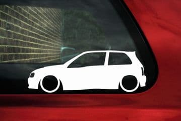 2x Low car outline stickers Toyota starlet GT Turbo / Glanza V 90