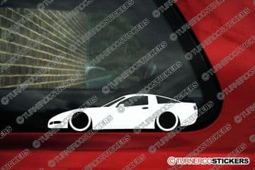 2x LOW CHEVROLET CORVETTE C5 Coupe Lowered Car outline stickers