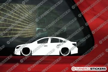 2x LOW Chevrolet Cruze'2008+ 4-Door sedan Lowered Car outline stickers
