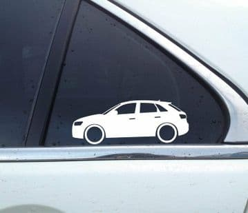 2x Low Crossover SUV silhouette stickers aufkleber - for Audi Q3 ( 8U ) L809