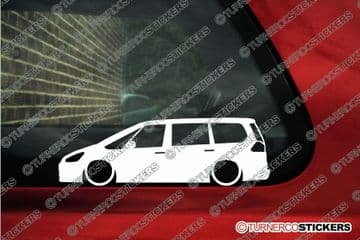2x LOW Ford Galaxy mk3 (2006+) stanced, lowered car outline stickers