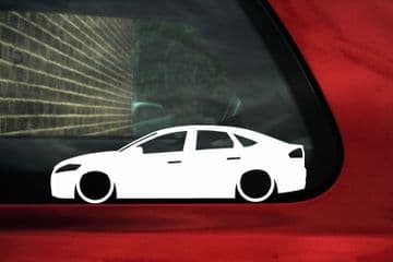 2x LOW Ford Mondeo mk4 Saloon / Sedan TDCi ,Lowered outline stickers / silhouette Decals