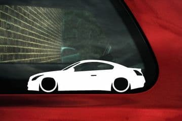 2x LOW Infiniti G37 Coupe / JDM cv36 nissan skyline 370GT coupe outline stickers  L840