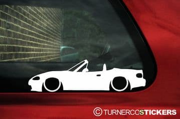 2x LOW Mazda Mx5 / Miata / eunos NB (facelift) ,outline stickers, Decals