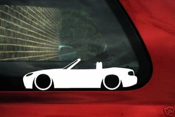 2x LOW Mazda NEW Mx5 Miata Mk3 NC,outline stickers,silhouette decal graphic