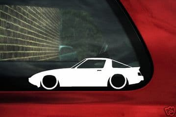 2x LOW Mazda RX7 SA / FB 1st gen, 13b GSL / 12A outline stickers