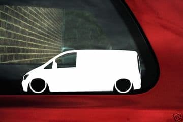 2x LOW Mercedes Vito van W639 outline Silhouette stickers / decals for Vito 115, 120 CDI