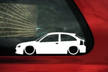 2x LOW MG ZR / Rover 25 Lowered car outline stickers