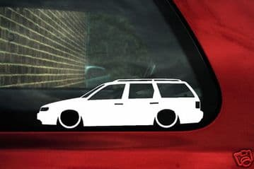 2x LOW Passat B4 35i estate outline stickers.For vw Passat g60 syncro, TDI, VR6